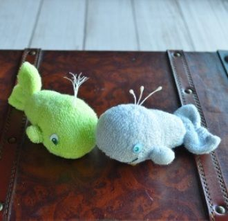 Baby Sock Whale PDF and Instructional Video   Washcloth ...