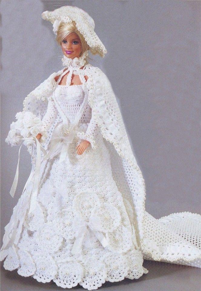 Ropa de punto para muñecas Barbie | 1.B. Aprender | Croché, Barbie y ...