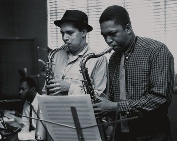 John Coltrane and Jackie McLean