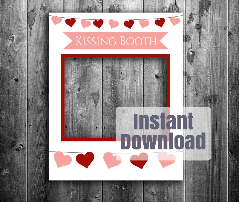 Kissing booth printable diy frame photo booth by yougrewprintables kissing booth printable diy frame photo booth by yougrewprintables solutioingenieria Image collections
