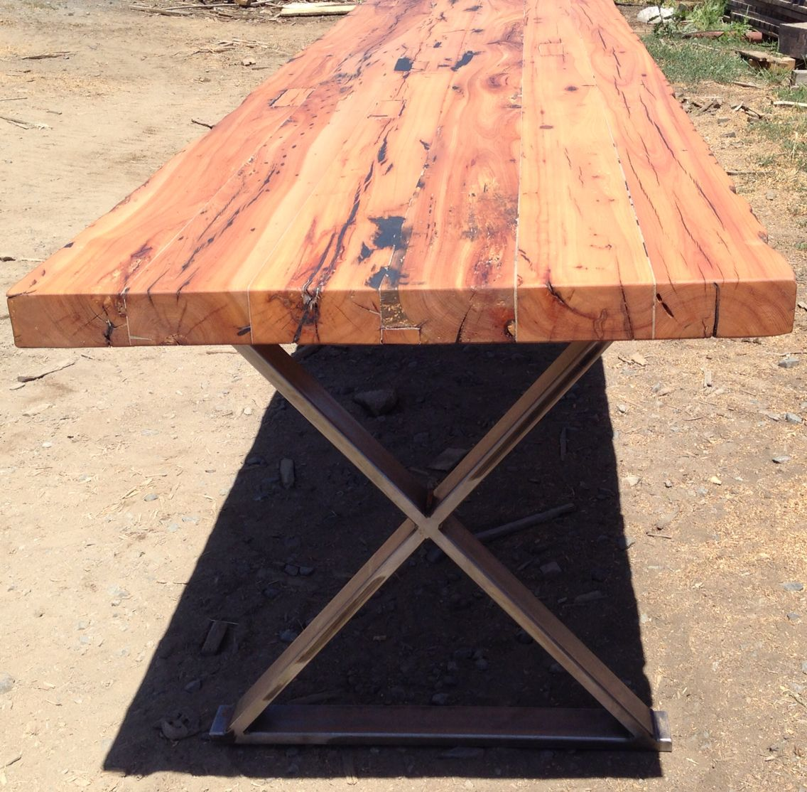 Reclaimed Wood Community Table For Bandidos Restaurant San Francisco