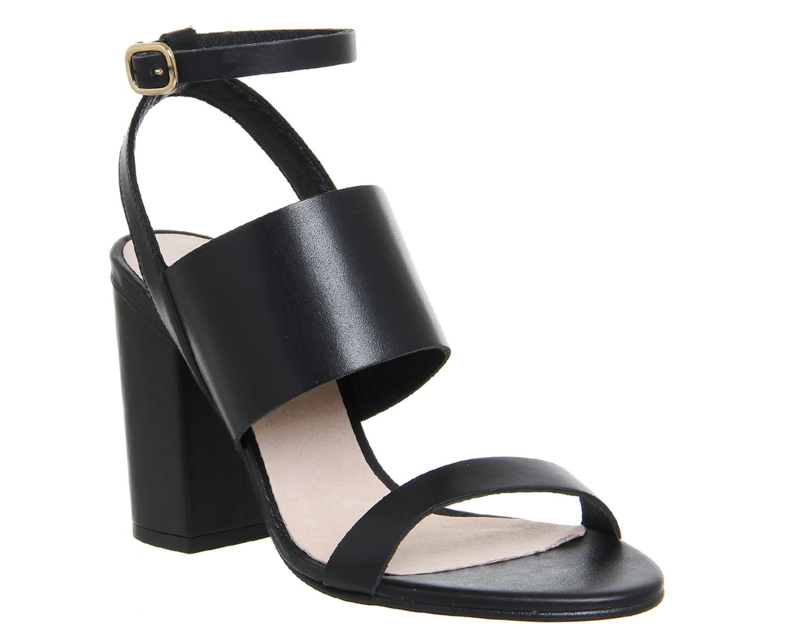 Office Time 3 strap block heel sandals Q8319