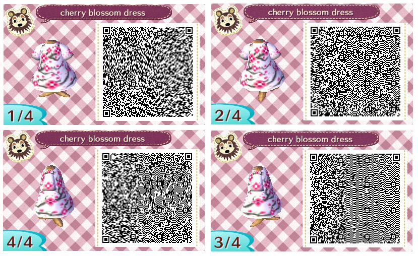 Cherry Blossom Dress By Quirkberry Animal Crossing New Leaf Animal Crossing Qr Codes Animal Crossing Animal Crossing Qr