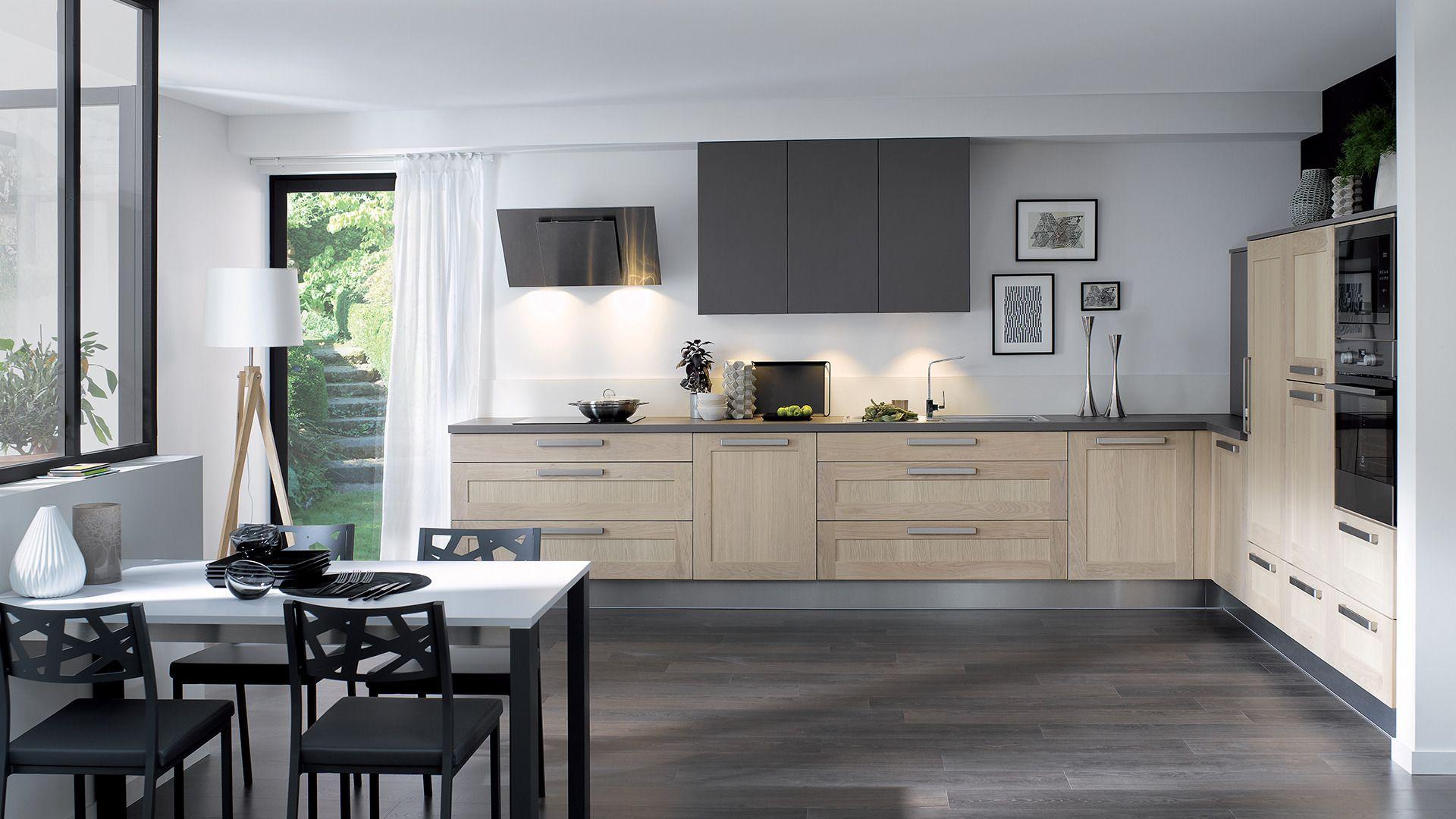 Cuisine Equipee Wooden Style Authentique Bois Pour Les