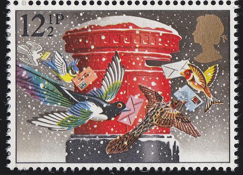 Royal Mail Christmas 1983 Postage stamp art, Stamp