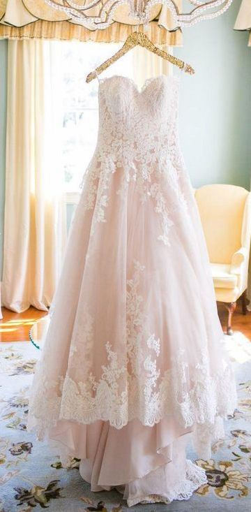 dceb518085 Light Pink Sweetheart Wedding Gown