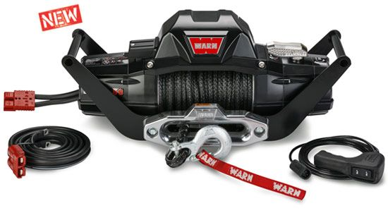 WARN 89990 ZEON Winch Mount Carrier Kit with Quick Connect Wiring for ZEON 8 and 10 Winches