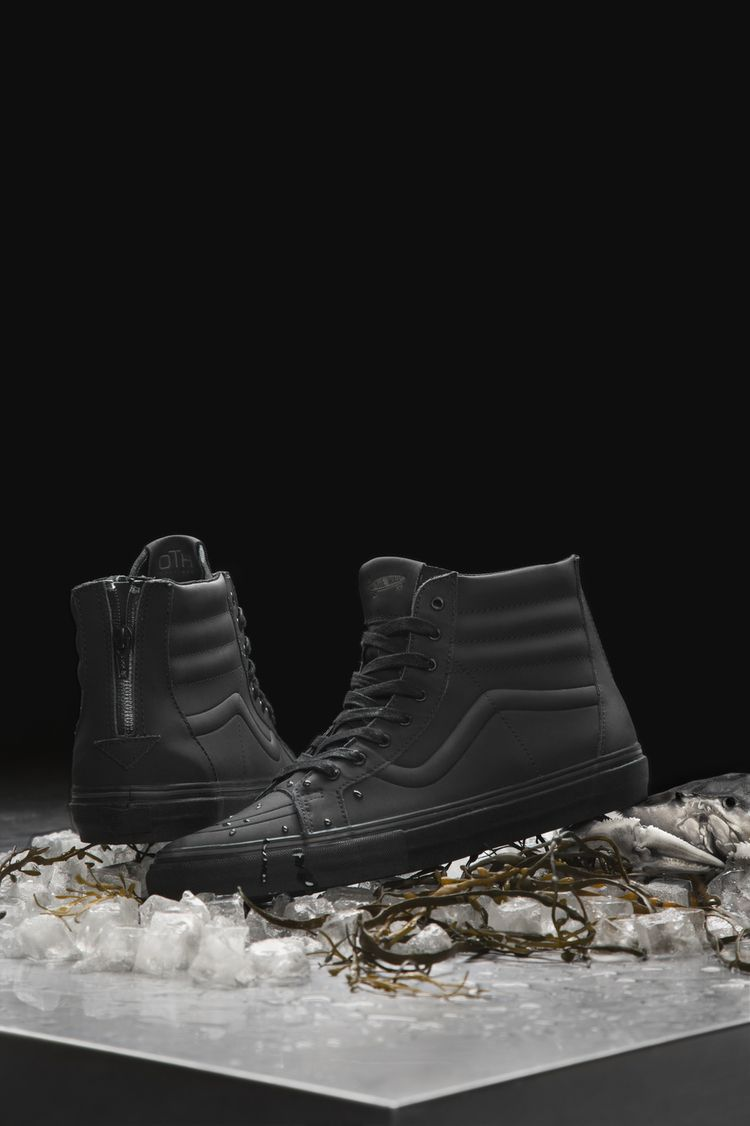 matte black, waterproof. collaboration with vans and off the hook