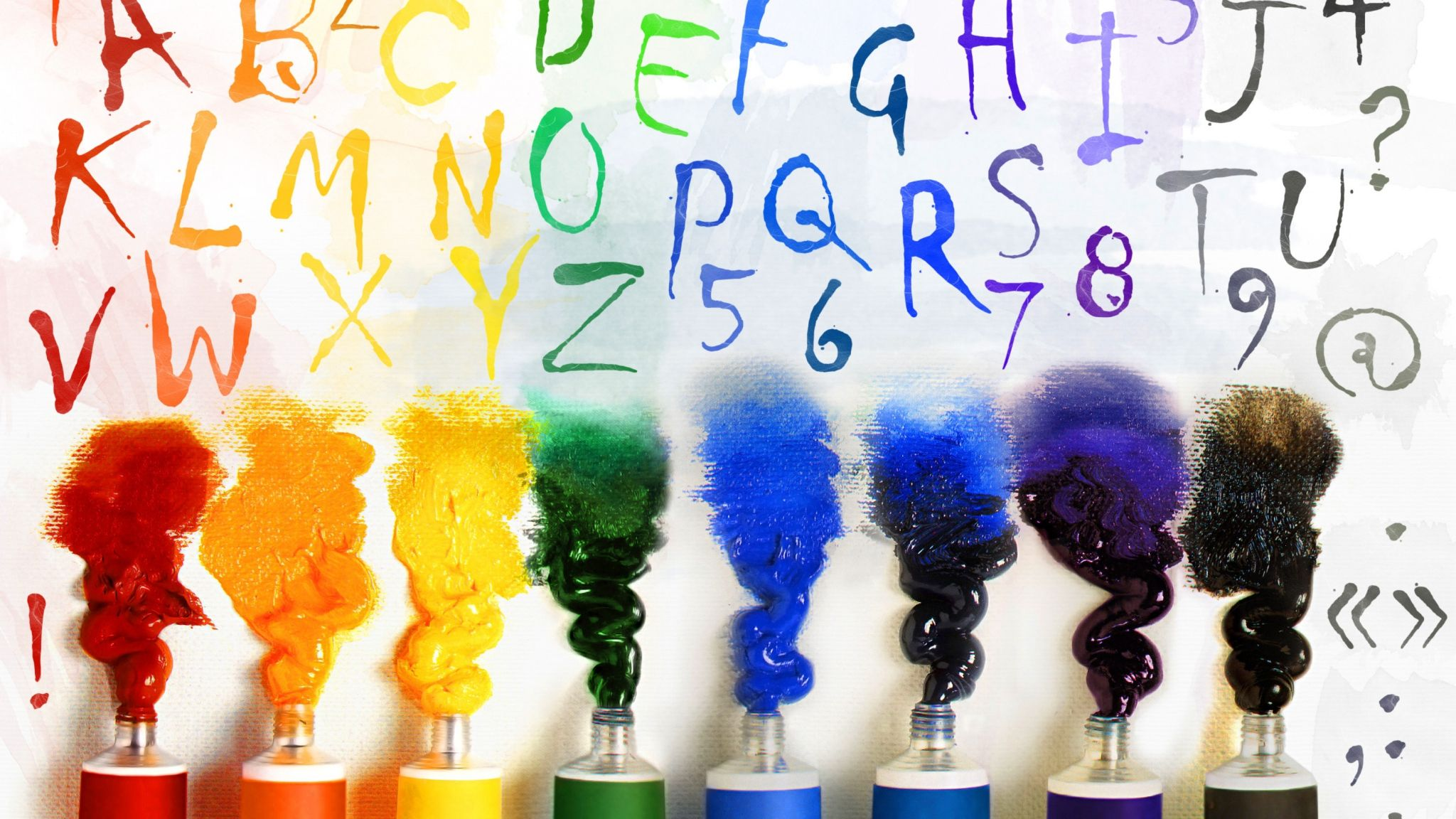 Download Wallpaper 2048x1152 Tubes, Paint, Letter, English | Best Games Wallpapers | Painting ...