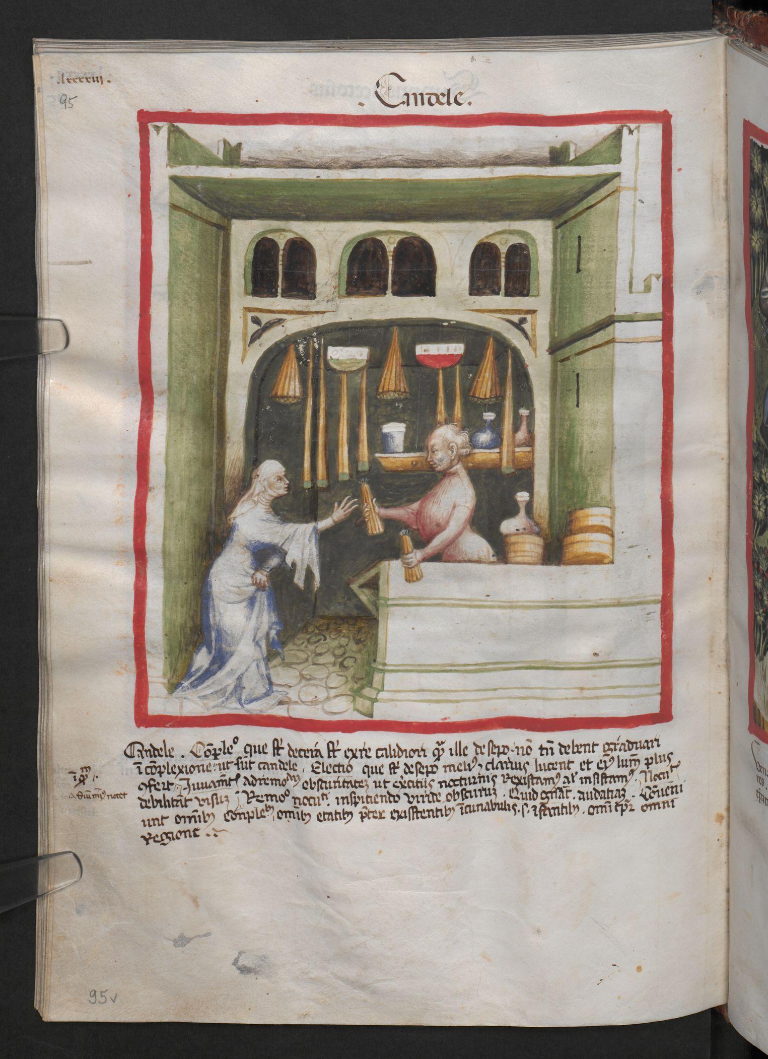 Folio 95v (page 194). Tacuinum sanitatis, Codex Vindobonensis, series nova 2644. Northern Italy, probably Verona, 1380-1399.