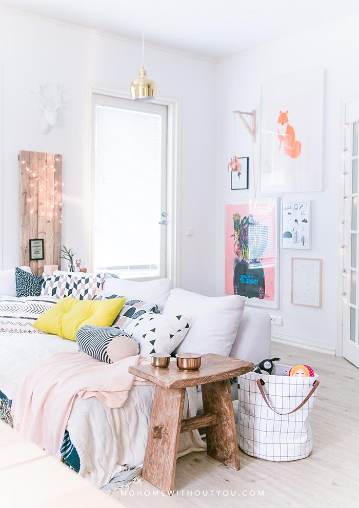 Colores vivos en una casa de estilo n rdico cuartos - Colores nordicos ...