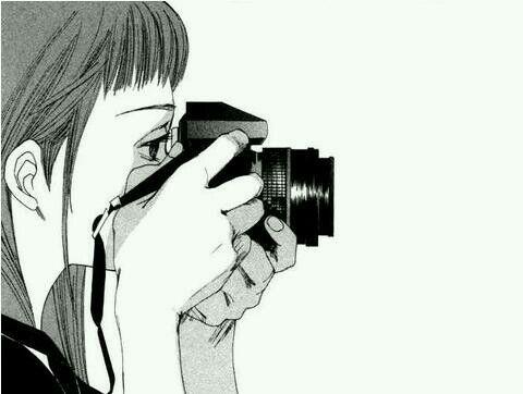 Photographer Girl Dessin Noir Et Blanc