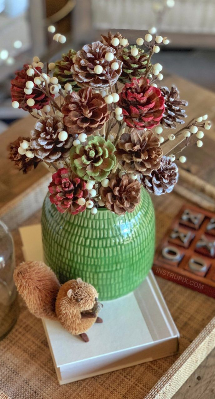 Pin on Pine cone crafts