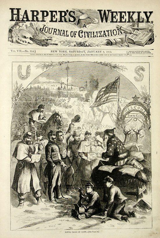 Santa Claus Changing Design Civil War History Civil War American Civil War