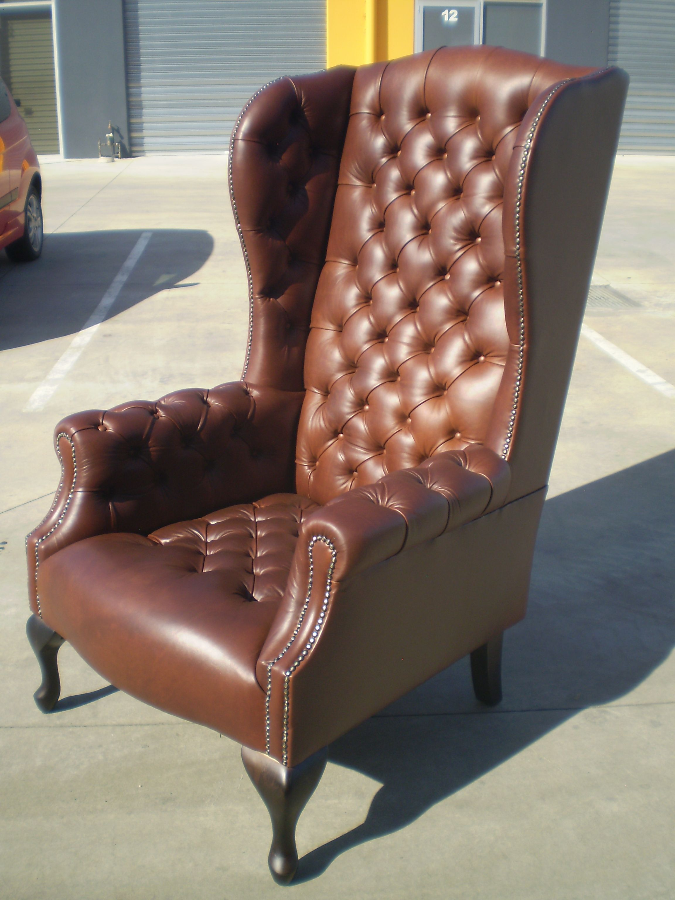 We Custom Made 2 Of These Bold Extremely High Back Wing Chair For A Lovely  Couple