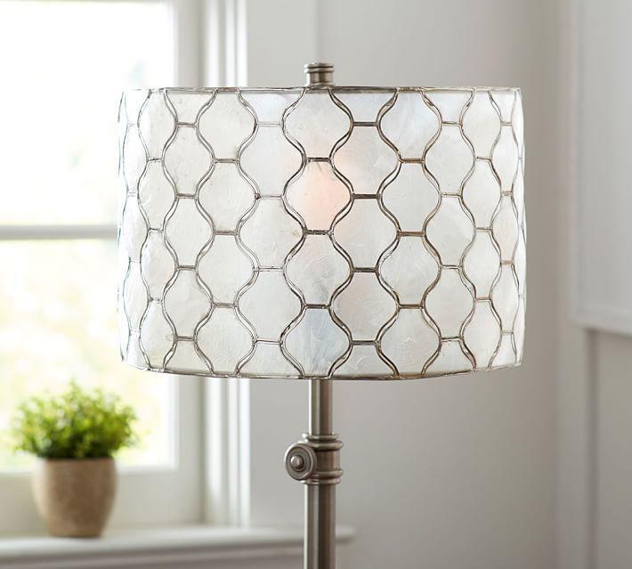 Capiz Lamp Shade Chandelier