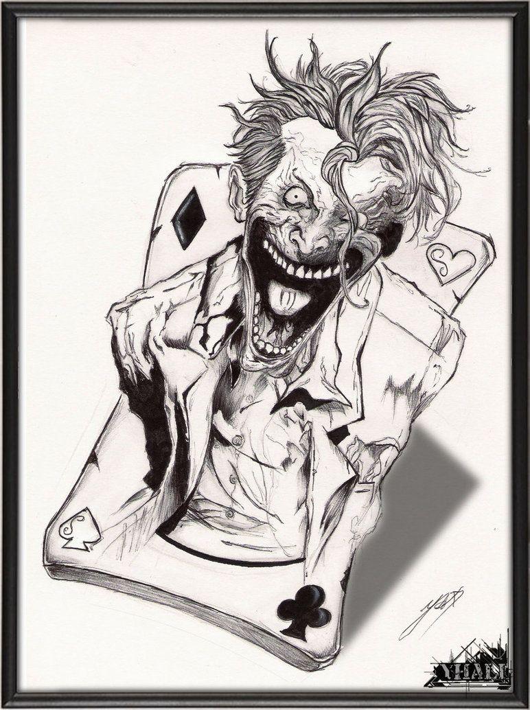 The Joker By Yhali Seni Gelap Ide Tato Gambar Manga