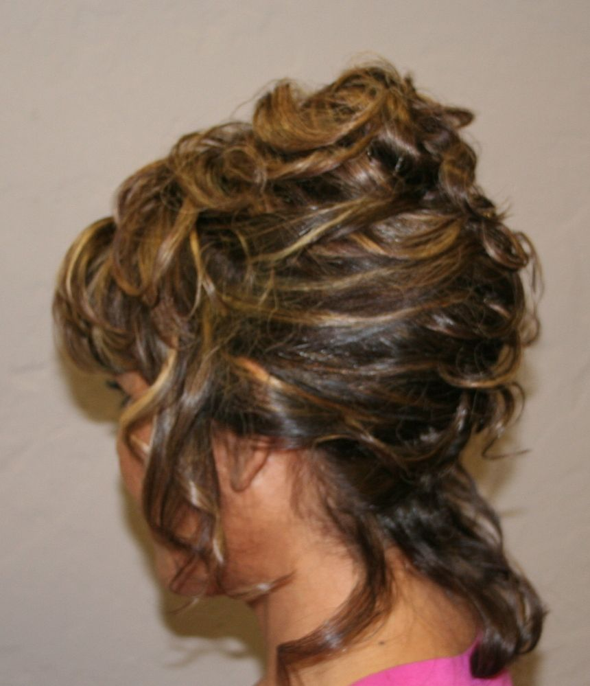 blowout and wedding updo stles | BRAIDED - KNOTTED - BRIDAL STYLES - QUINCEANERA UPDOS