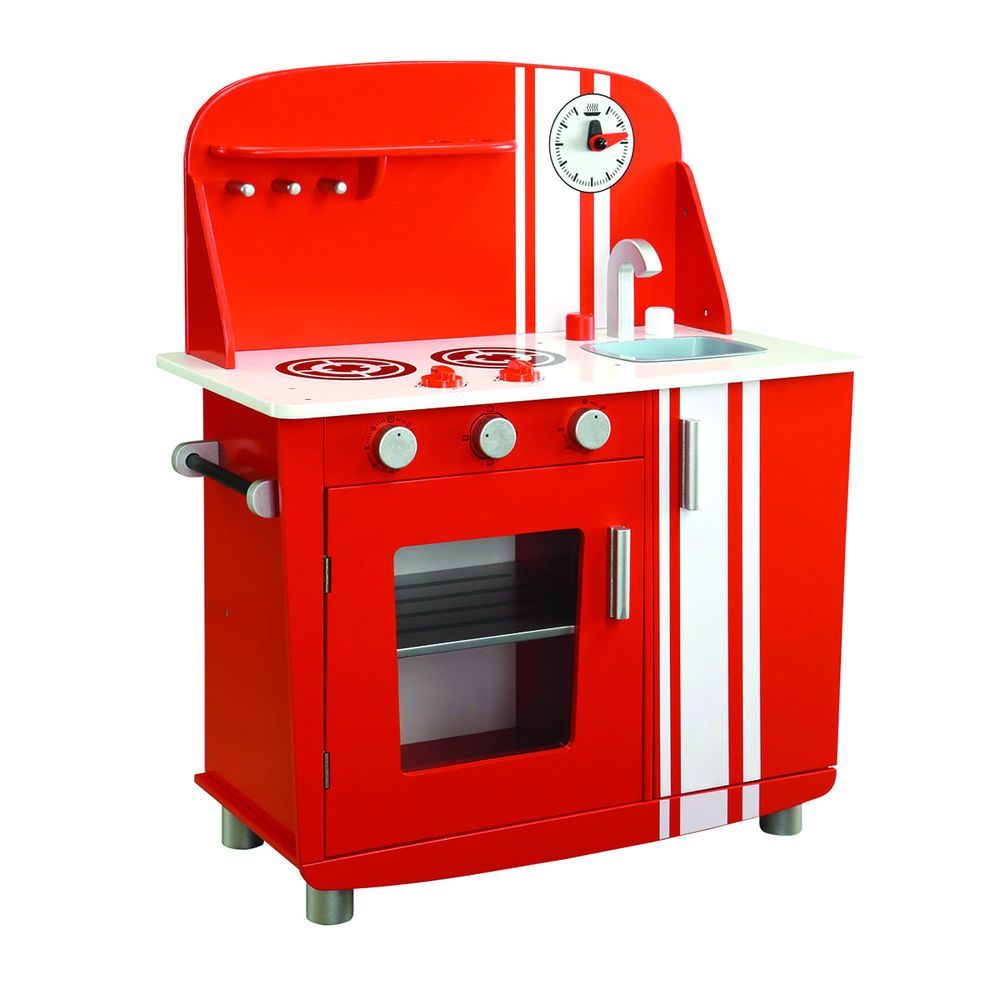 Kids Red Vintage Kitchen Stove Oven Sink Pretend Play Cook And Clean Young  Chef #MaximEnterprise