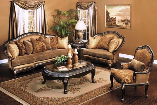 incredible italian living room furniture sets | Benetti's Italia Treviso Antique Style Formal Sofa Set ...