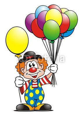 Clowns Quenalbertini Clown With Balloons Clown Balloons