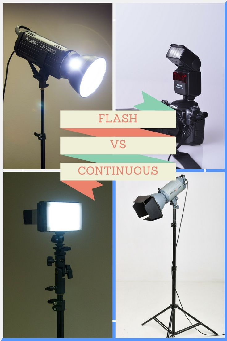A comparison of flash vs continuous lighting for photography and video use & Flash vs continuous lighting for photography (and video | Pinterest ...