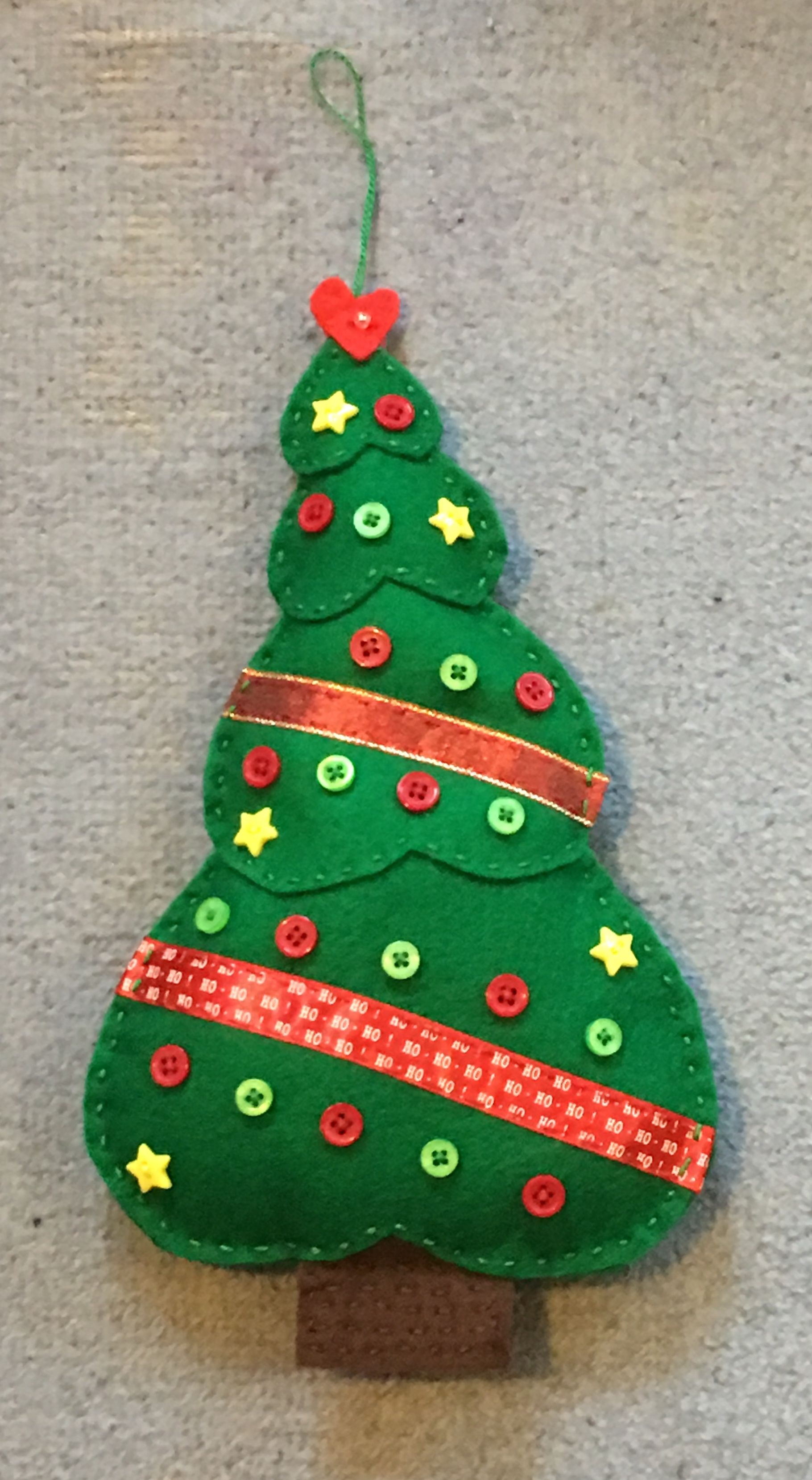 Christmas Tree In Felt Fabric Christmas Ornaments Felt Crafts Christmas Felt Christmas Ornaments
