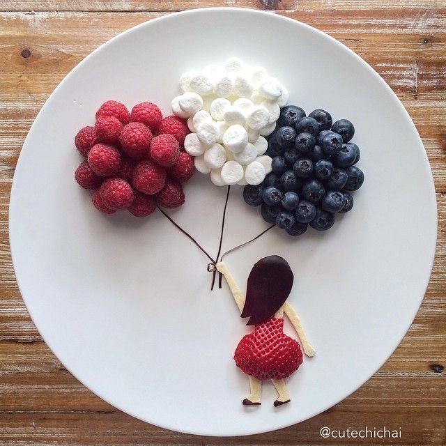 Richtest du so Obst für Kinder an, wird der Teller leer gegessen. #celebrationcakes