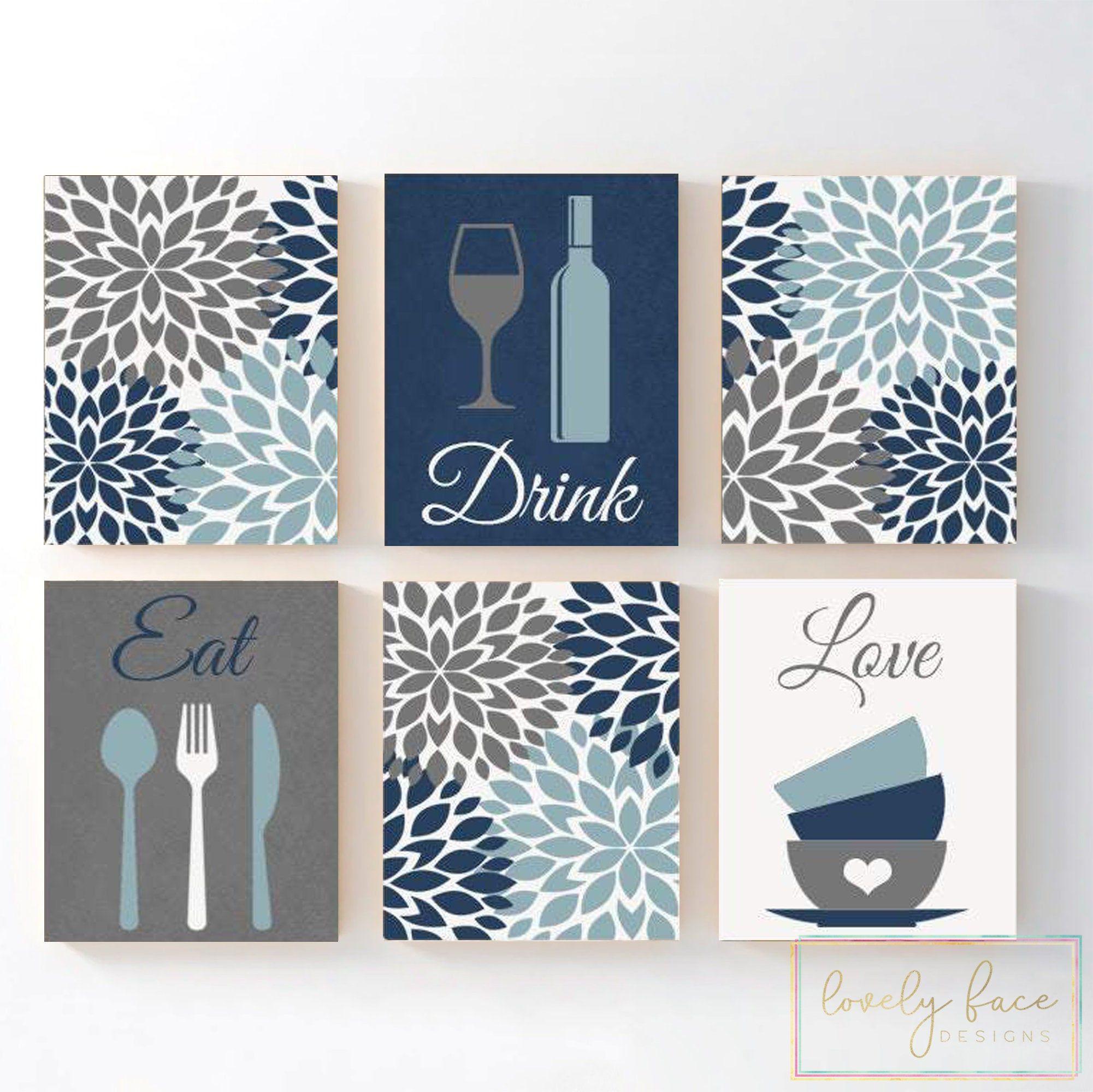 Eat Drink Love Kitchen Wall Art Eat Drink Love Prints Or Etsy Kitchen Wall Art Kitchen Decor Wall Art Etsy Wall Art
