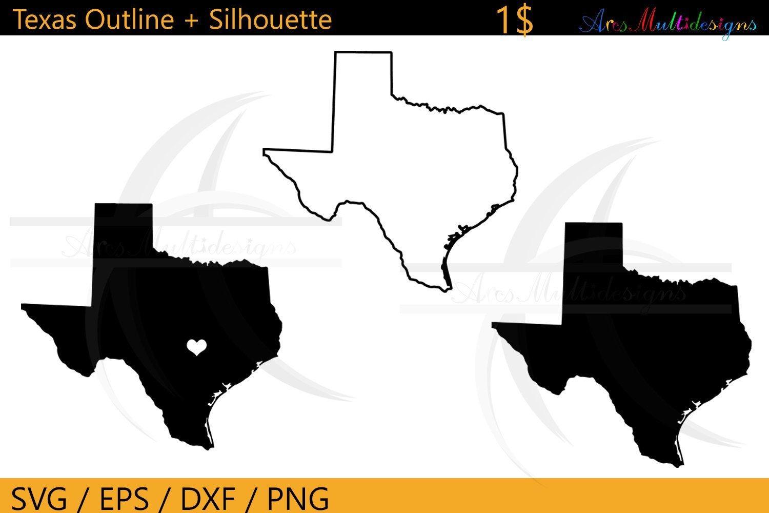 Texas Outline Map Texas States Outline Map United States Map Silhouette Texas Silhouette 1 Dollar By Arcsmul Texas Outline State Outline Texas Silhouette