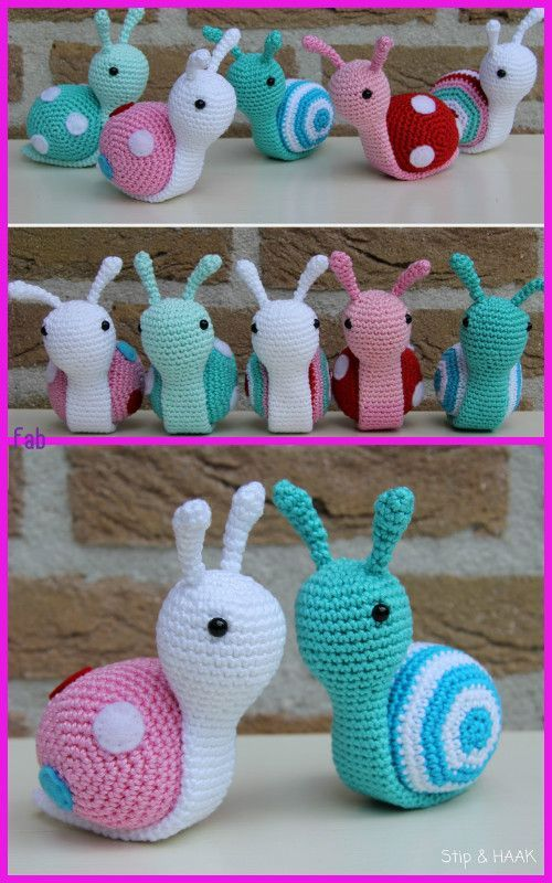 Amigurumi Snail Crochet Free Patterns # ...