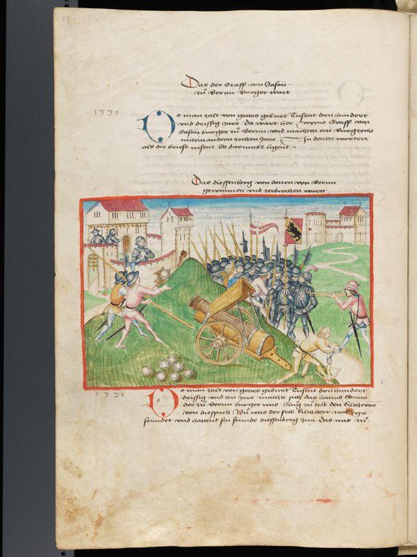 Bern, Burgerbibliothek, Mss.h.h.I.1, f. 88 – Diebold Schilling, Amtliche Berner Chronik, vol. 1