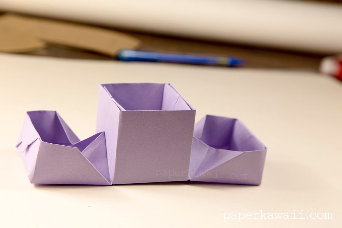 Origami Hinged Box VideoTutorial, Learn how to make a ... - photo#41