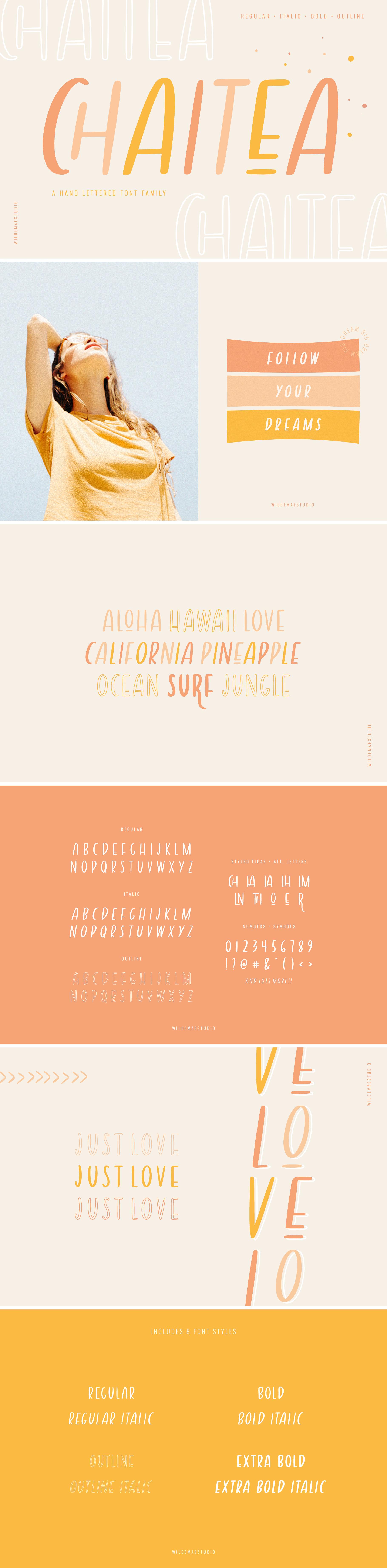 Chaitea Font Family Font Family Brush Font Sans Serif