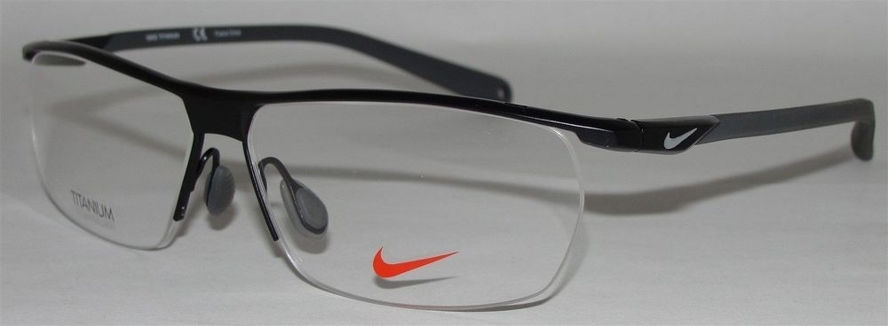 New Authentic Nike Eyeglasses 6055 1 002 Black Rimless Titanium 57 12 145 |  eBay