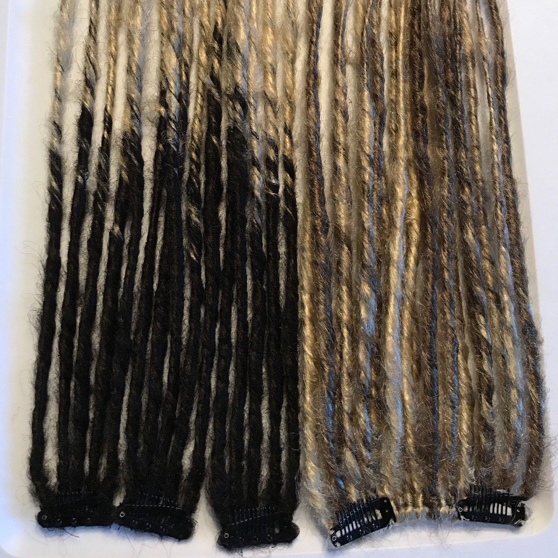 Custom Clip In Human Hair Extensions Dread Falls Pinterest