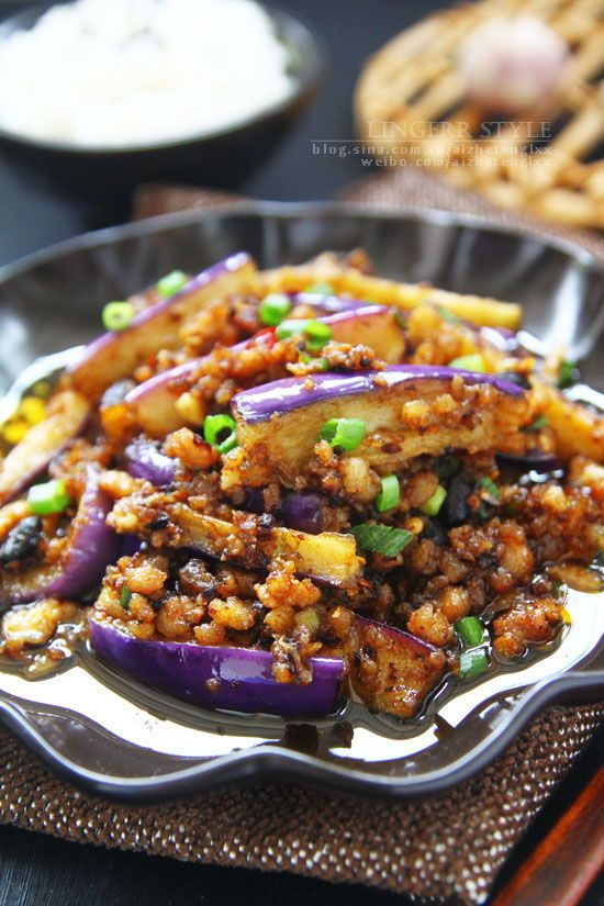 Chinese Eggplants With Minced Pork Recipe In Chinese Food Eggplant With Minced Pork Recipe Real Food Recipes