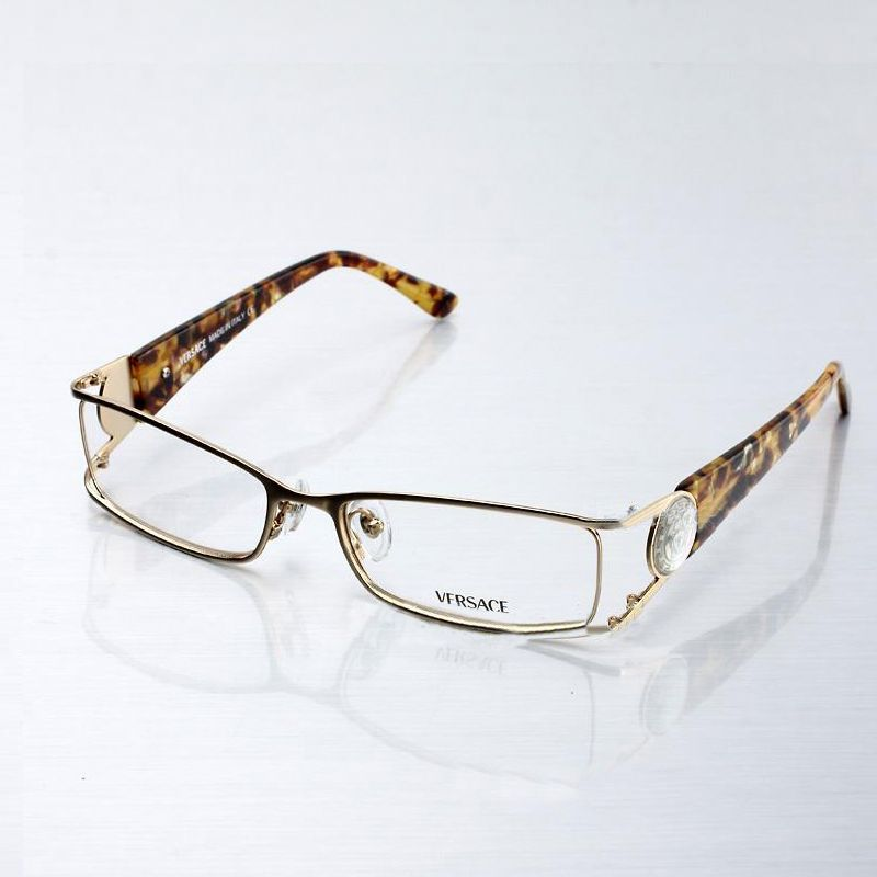 Real Gold Eyeglass Frames : Image Detail for - Replica Versace Women s Eyeglasses in ...