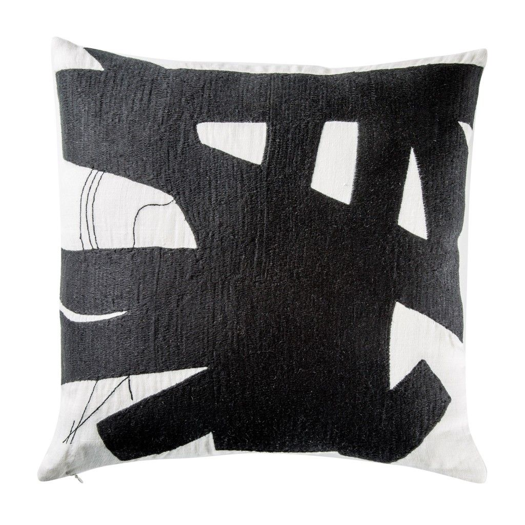 Brushstroke Cushion Cover Monochrome
