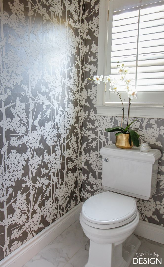 Wallpaper In The Water Closet Deeply Southern Home Toilet Room Decor Water Closet Water Closet Decor