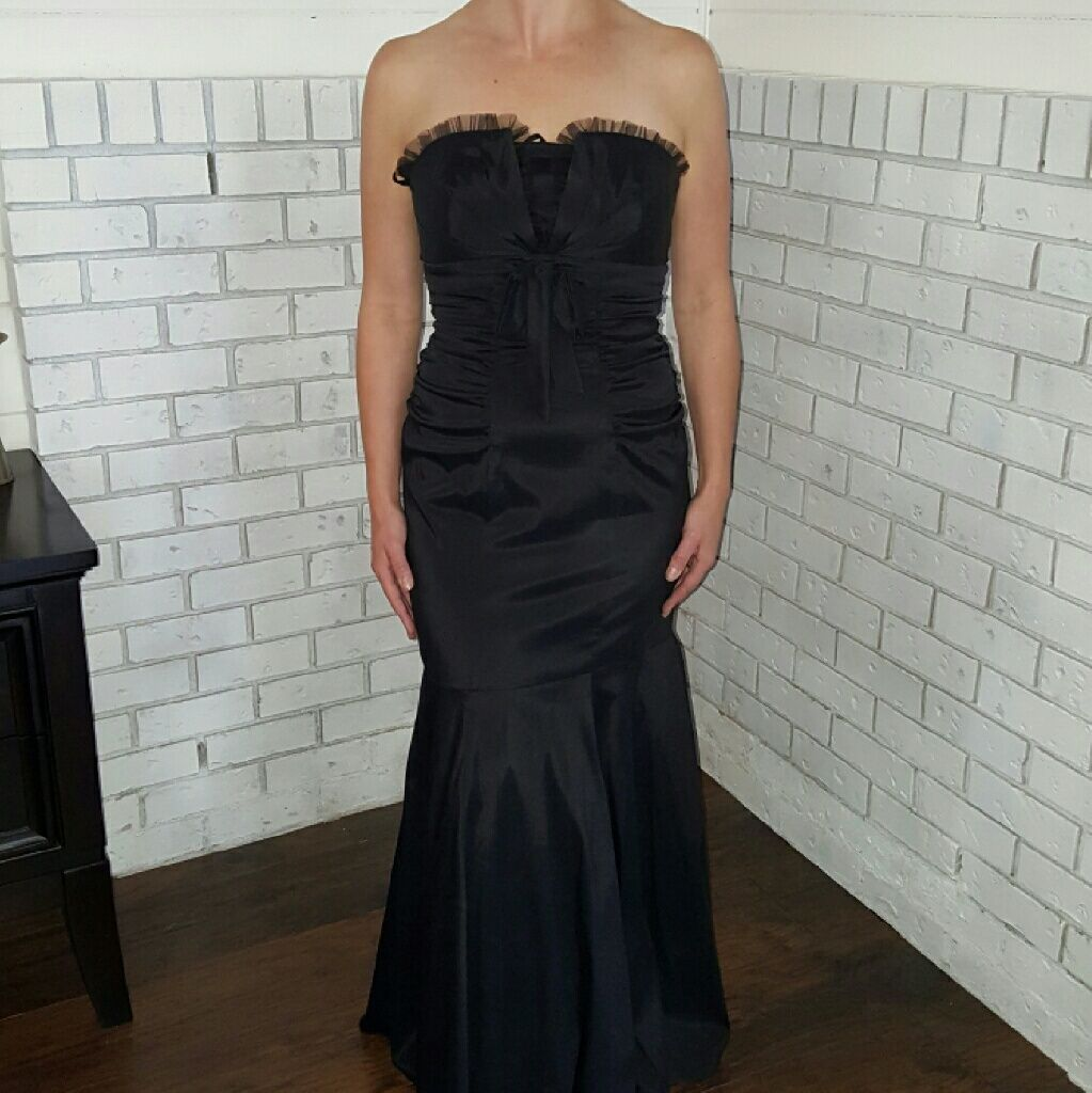 Xscape black dress gown for promwedding guest products