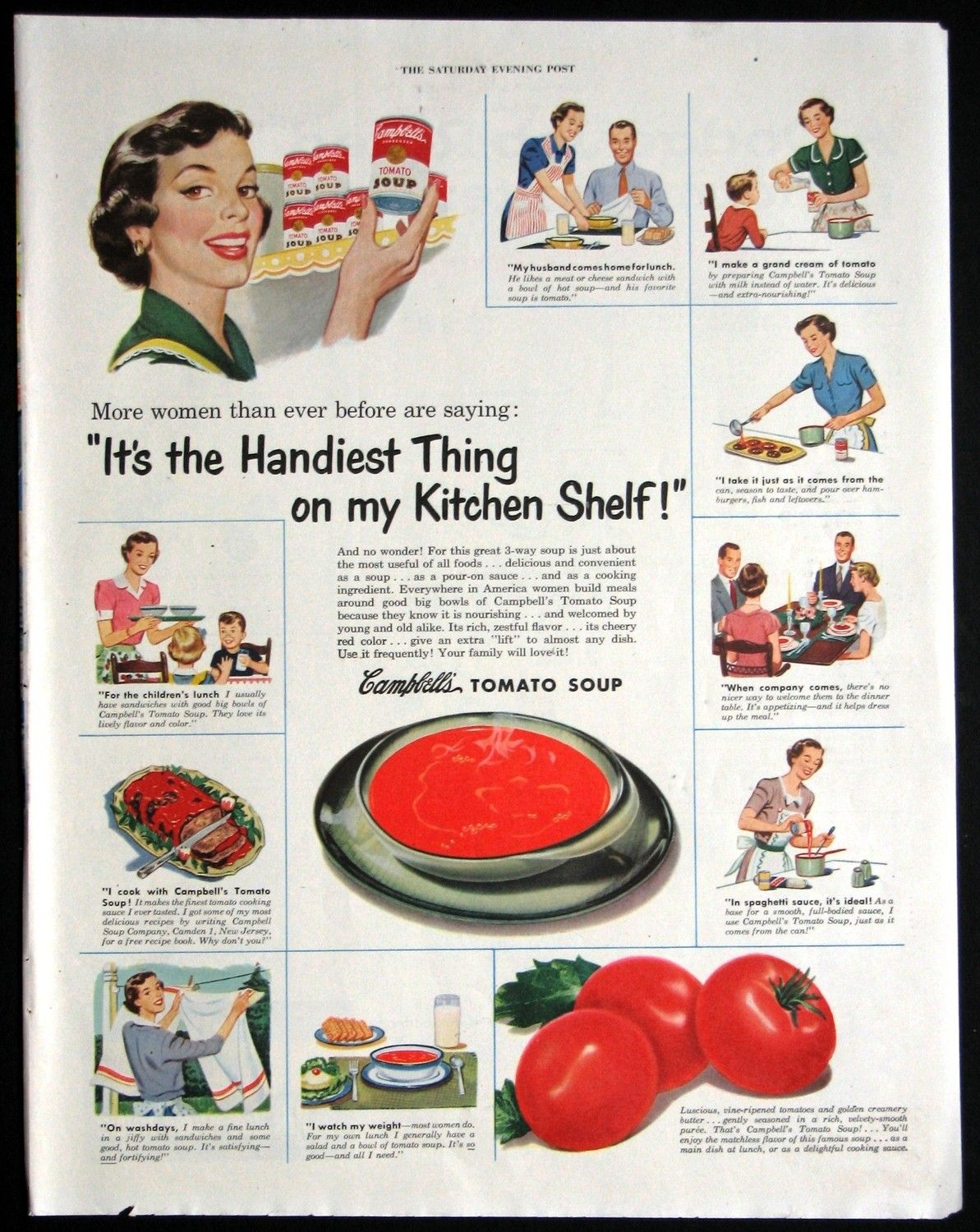 A Vintage Campbells Soup Magazine Ad | Magazine ads and Ads