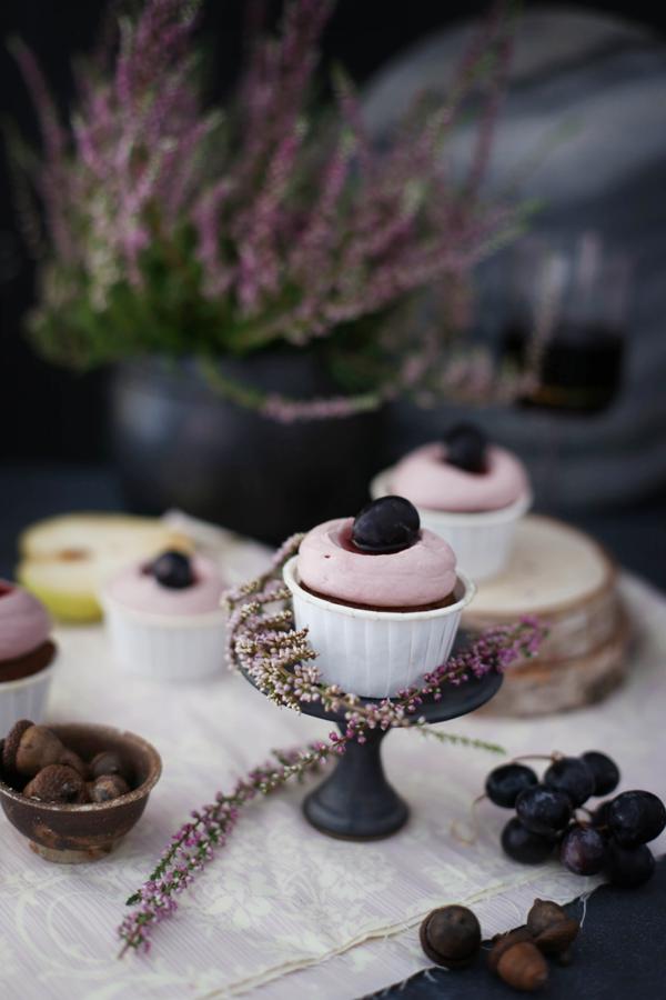 Rotwein Birnen Cupcakes Mit Monsieur Cuisine Cupcakes Pinterest
