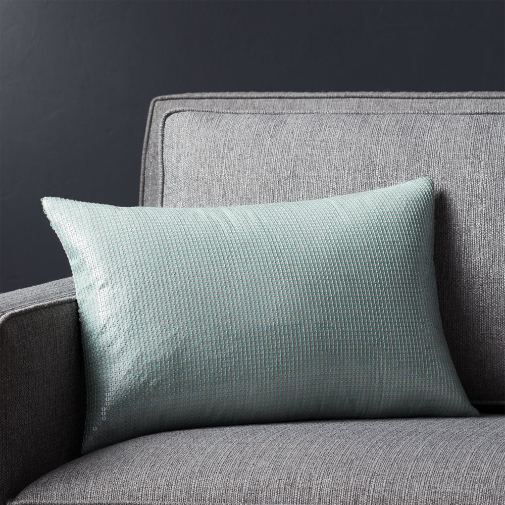 nile 18 x12 pillow with feather down insert crate and barrel