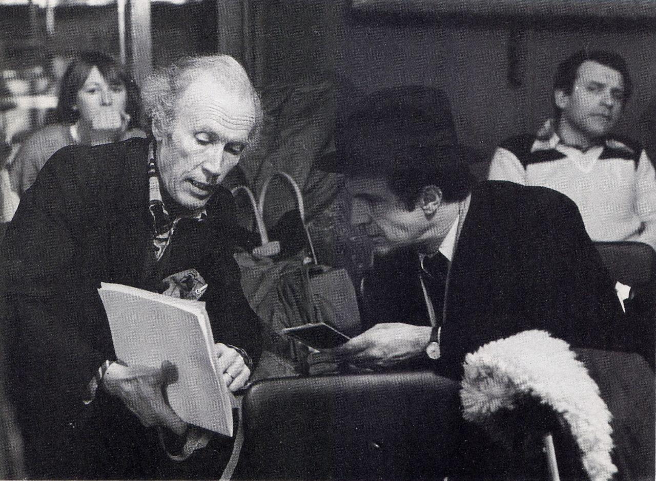 eric rohmer and franois truffaut during the filming of la chambre verte 1977 cinema pinterest the ojays - Chambre Verte Truffaut