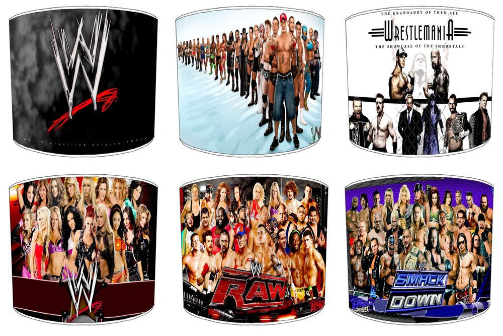 Wwe Wrestling Lamp Shades Ideal To Match Duvets Bedding Curtains Cushions Childrens