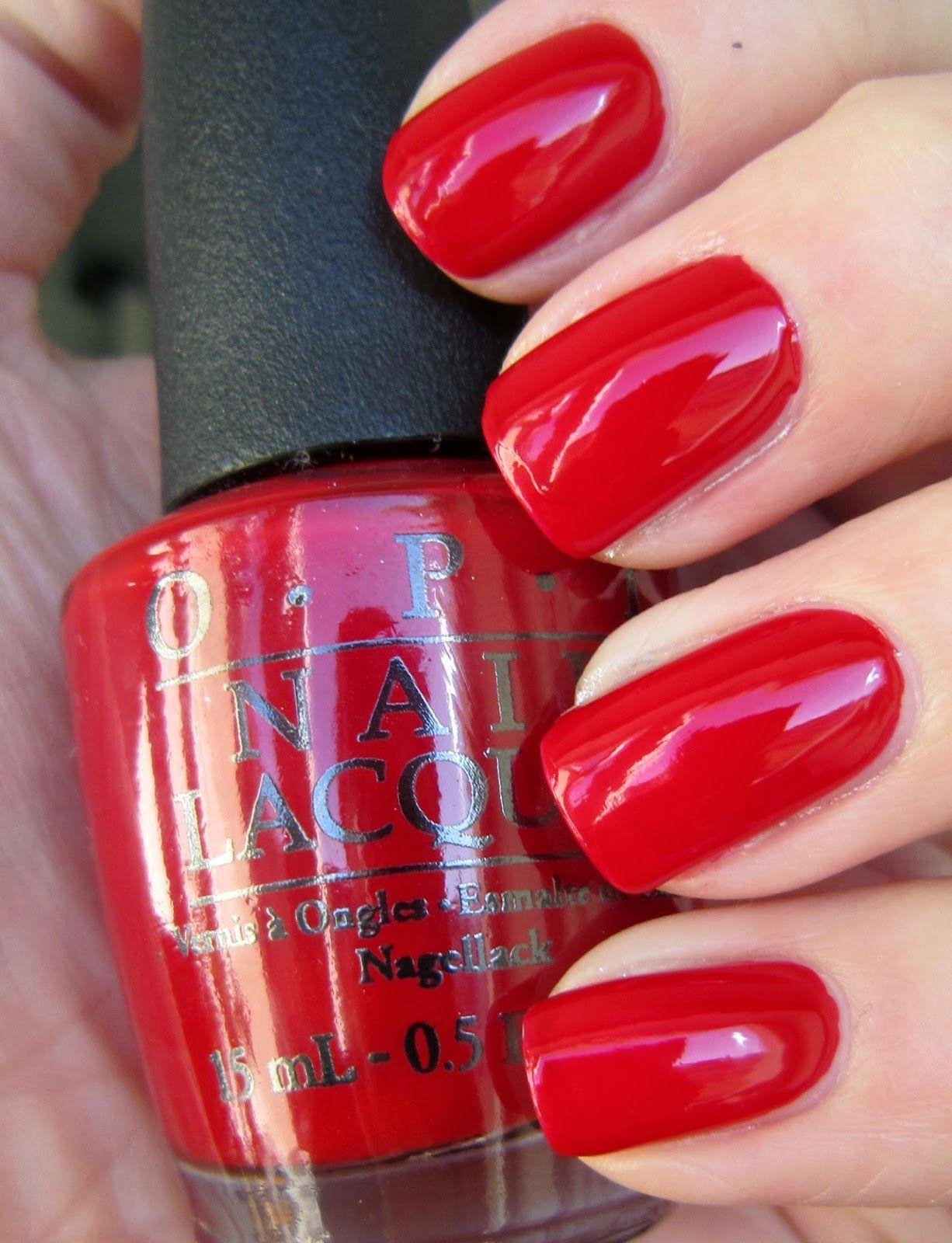 Bonito Opi Gel Rojo Esmalte De Uñas Cresta - Ideas de Diseño de Arte ...