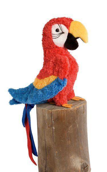 "Douglas Cuddle Toys Red Parrot 7"""""