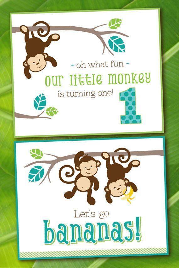 Monkey Birthday Party Printables