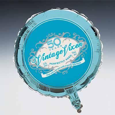 Vintage Vixen 50th Birthday Mylar Balloon